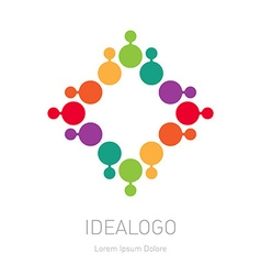 logo design element or icon Abstract multicolor vector image vector image