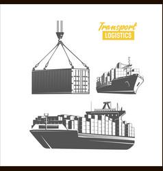 transport logistics design template image vector image vector image