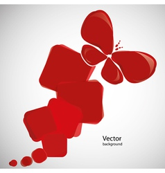 abstract red background with butterfly vector image