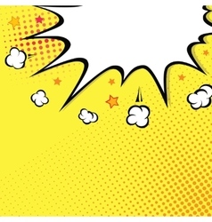 Boom Comic book explosion on top background vector image vector image