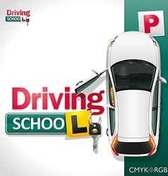 Driving School vector image vector image