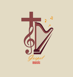 emblem christian music vector image