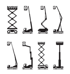 industrial lifting equipment vector image vector image