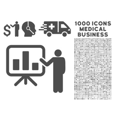 Presentation Icon with 1000 Medical Business vector image vector image