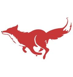 Running Fox Icon 03 vector image