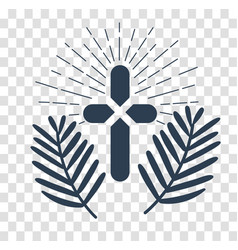 silhouette icon palm sunday vector image vector image