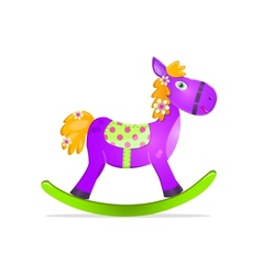violet rocking horse toy vector image
