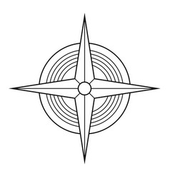 Abstract geometric symbol four pointed star vector