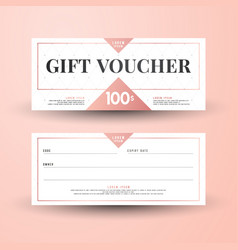Abstract gift voucher card template modern discou vector