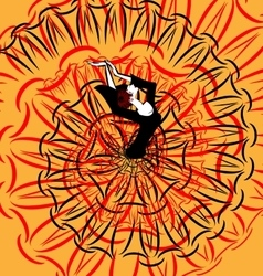 abstract image of flamenco vector image vector image