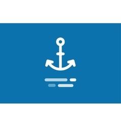 Anchor logo icon vector