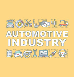 Automotive industry word concepts banner vector