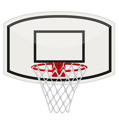 Basketball ring with net vector