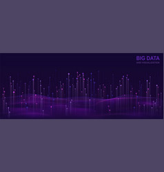big data visualization futuristic design of data vector image