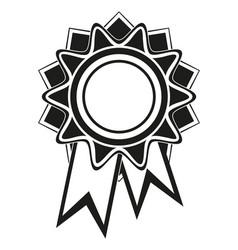 Black and white rosette award silhouette vector