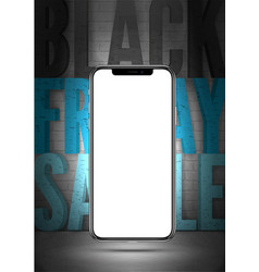 Black friday sale realistic banner template vector