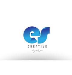 Blue gradient es e s alphabet letter logo vector