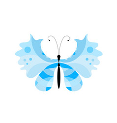 Blue summer butterfly vector