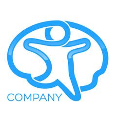 Brain man logo vector