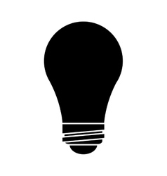 bulb idea innovation creative silhouette vector image