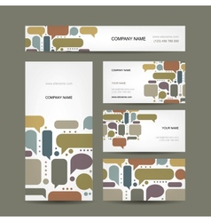 Business cards collection with infographic frames vector