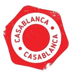 Casablanca stamp rubber grunge vector