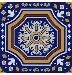 Ceramic tile ornament vector