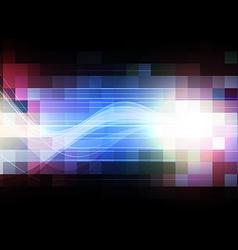 color square pixel background movement vector image