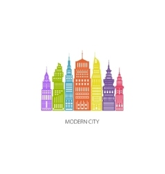 Colorful Big City Emblem vector image