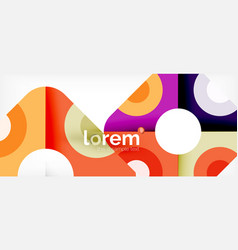 colorful trendy geometric shapes background vector image