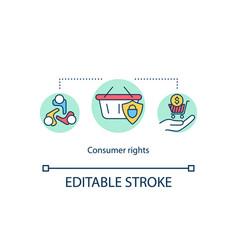 Consumer rights concept icon vector