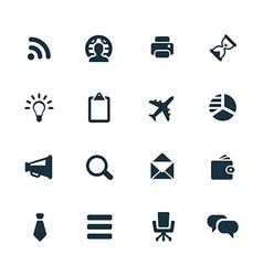 corporate icons set vector image