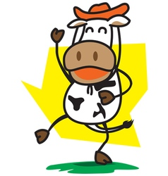 Cowboys Cow vector image