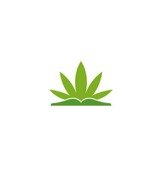 creative cannabis book logo vector image