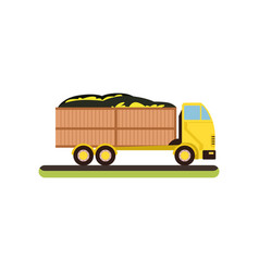 delivery truck on a white vector image