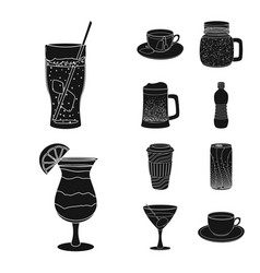 Design drink and bar symbol collection vector
