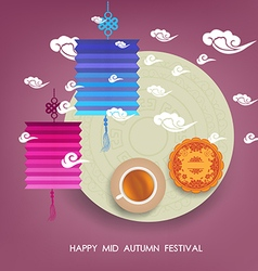 Design Elements of Mid Autumn Festival Translation vector