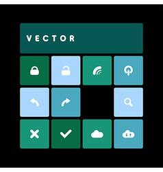 design flat dark green vector image