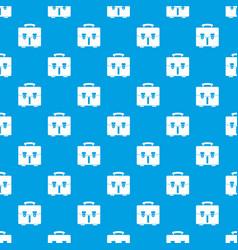 Diplomat bag pattern seamless blue vector