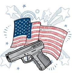 Doodle americana gun vector