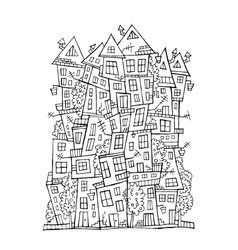 drawing contour town vector image