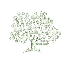 Ecology Tree Infographics vector image