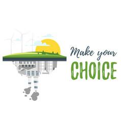 environmental protection concept vector image