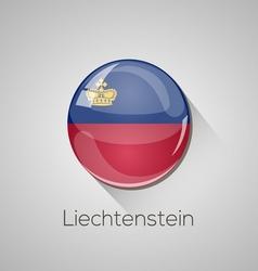 European flags set - Liechtenstein vector image