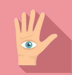 eye in hand icon flat style vector image