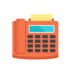 fax telephone icon flat style vector image