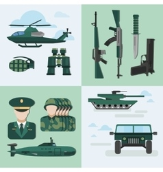 Flat Army Compositions vector image