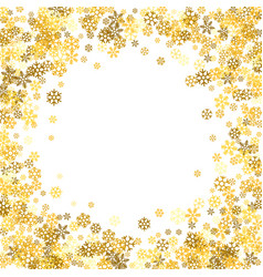Frame or border of random scatter snowflakes vector