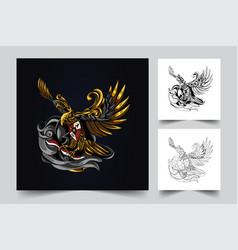garuda indonesian artwork vector image