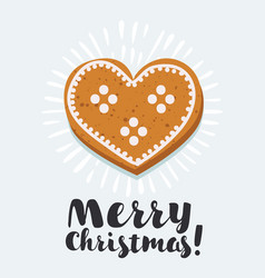 gingerbread heart cookies vector image